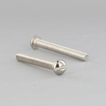 8/32 Thread Nickel Plated Steel 1-1/2in. Long Slotted Head Screw