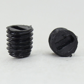 6 MM Nylon Slotted Set Screw Black