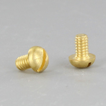 8/32 Thread Brass Plated  1/4in. Long Slotted Head Screw
