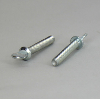 1in Long X 8/32 Type S Thumb Screw with Shoulder - Zinc Plated Steel