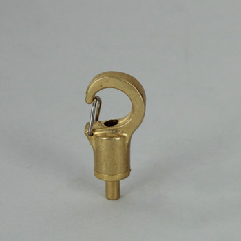 Unfinished Brass Suspension System Snap Hook Gripper for use with 1-1.5mm Steel Cable