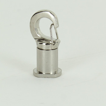Polished Nickel Finish Brass Ceiling Snap Hook Suspension Ceiling Attachment for use with Cable Grip