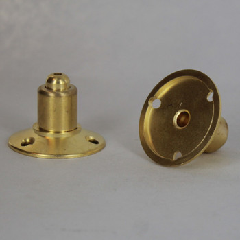 Unfinished Brass 3- Hole Ceiling Attachment for use with Cable Gripper