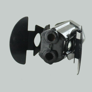 E12 Base Phenolic Candelabra Lamp Socket with Snap In Spring Clip and Push Wire Terminal