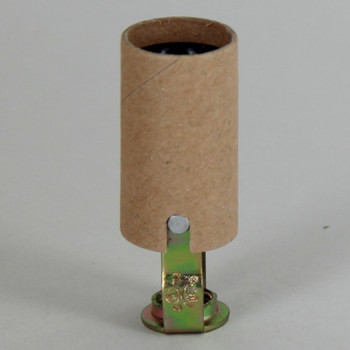 2in. Candelabra Lamp Socket with 1/8ips. Threaded Hickey and Cardboard Insulator