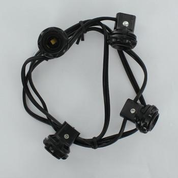 E-12 Base Phenolic Candelabra  4 Socket Harness Set with Threaded Body and Ring