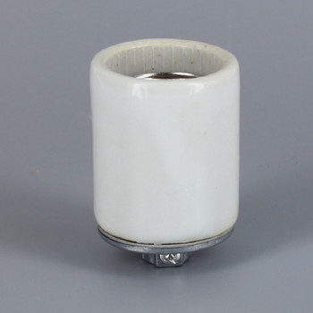 1/8ips - Leviton - E-26 Base Porcelain Keyless Lamp Socket with Screw Terminals