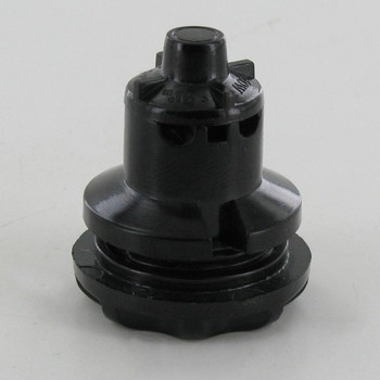 E-12 base Phenolic Candelabra Easy Wire Pin Type Socket with Threaded Body and Ring