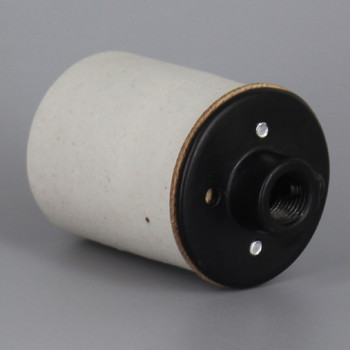 E-26 Base Porcelain Keyless Socket with Screw Terminals and 1/8ips. Black Cap