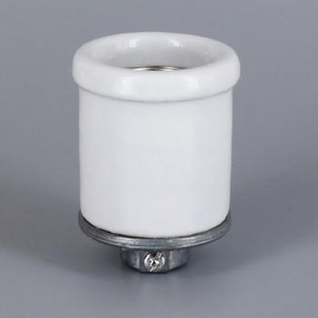 Leviton - E-26 Base Porcelain Keyless Socket with Shoulder, Screw Terminals and 1/8ips. Cap
