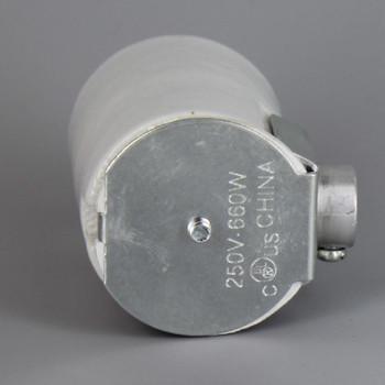 Import - E-26 Porcelain Keyless Socket with 1/8ips. Side Outlet Bushing