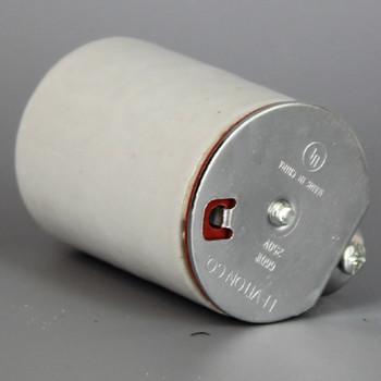 Leviton - E-26 Porcelain Keyless Socket with 1/8ips. Side Outlet Bushing