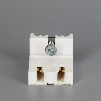 Leviton - Non-Shunted T8 Bi-Pin Standard Fluorescent Lampholder