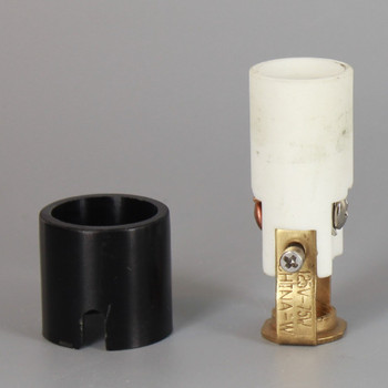 1-7/8in Height Porcelain E-12 Base Damp Location Rated Lamp Socket