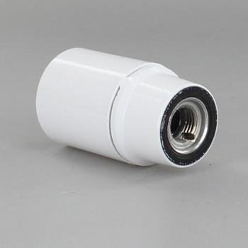 White Candelabra Base Phenolic Socket with 1/8ips. Female Cap
