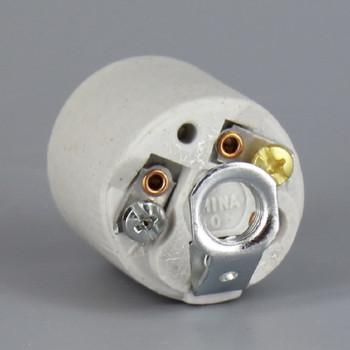 Leviton - E-26 Porcelain Keyless Socket with 1/8ips Threaded. Hickey