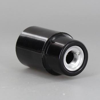 Black Candelabra Base Phenolic Socket with 1/8ips. Female Cap