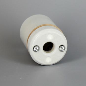 Leviton - E-26 2 Piece Porcelain Lamp Socket Includes (2) 8/32 Mounting Screws