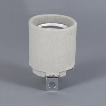 Leviton - E-26 Porcelain Keyless Socket with 13/64 Bracket
