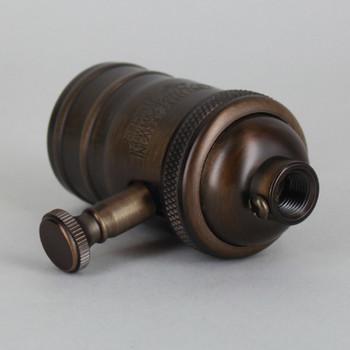 Dark Bronze Finish Full Range Dimmer Socket with 1/8ips. Cap