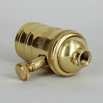 Polished Brass Finish Full Range Dimmer Socket with 1/8ips. Cap