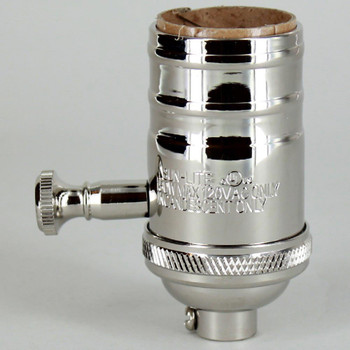 Polished Nickel Finish Full Range Dimmer Socket with 1/8ips. Cap