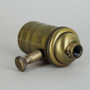 Antique Brass Finish Full Range Dimmer Socket with 1/8ips. Cap