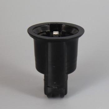 Black E-26 Base Weatherproof Phenolic Sign Socket with No Hook