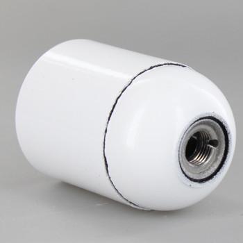 White E-26 Base Phenolic Socket with Smooth Shell and 1/8ips. Cap