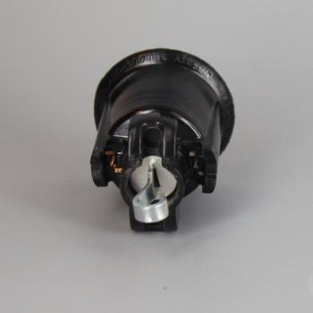 Black E-26 Base Weatherproof Phenolic Sign Socket with Mounting Hook