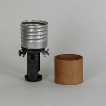 2-1/2in E26 Base Keyless Socket with 1/8ips. hickey and cardboard insulator