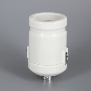 1/8ips Threaded Cap Antique Style Keyless Porcelain lamp socket with Clamp On Shoulder