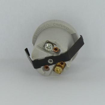 Leviton - 1-Circuit 1-Piece E-26 Base Porcelain Keyless Snap-In Socket Lamp Holder