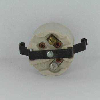 Leviton - E-26 Base Porcelain Snap-In Socket for Hi-Hat with Screw Terminals