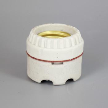 Leviton - E-26 Base Porcelain Keyless Socket 2-Piece Ring Type with Screw Terminals