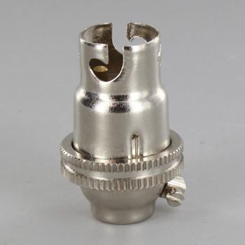 B-15 Polished Nickel Finish Lamp Holder with 1/8ips Thread