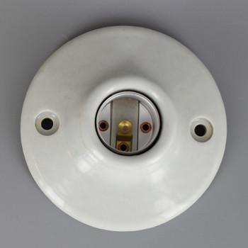 Leviton - E-26 Porcelain Keyless Lamp Holder with Screw Terminals
