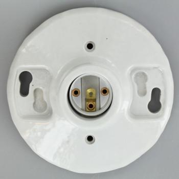 Leviton - E-26 Medium Base One-Piece Glazed Porcelain Keyless Incandescent Lampholder