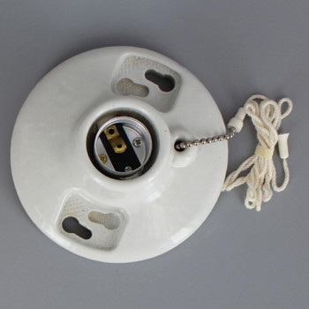 Leviton - E-26 Porcelain Pull Chain Socket Fixture