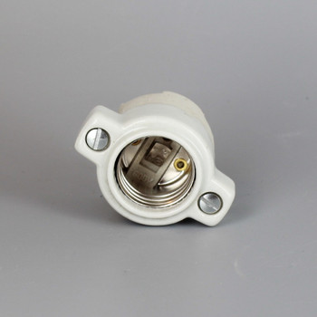 Leviton - E-26 Porcelain Socket with Bushings Tapped for (2) 8/32 Screws