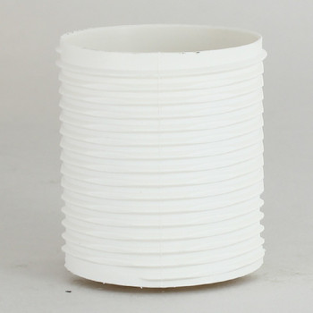 E-27 White Fully Threaded Skirt Thermoplastic Lamp Socket Skirt.  Push Terminal Wire Connections