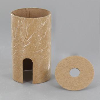 E-26 Turn Knob / Pull chain Cardboard Socket Insulator And Cap Insulator Set