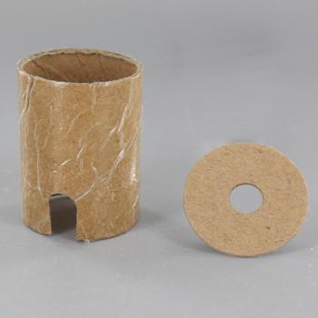 E-26 Keyless Cardboard Socket Insulator And Cap Insulator Set