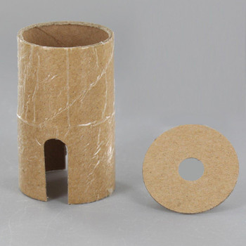 E-26 Push Through Cardboard Socket Insulator And Cap Insulator Set
