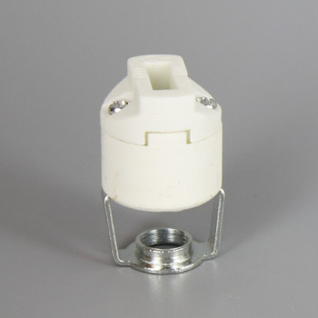 G-9 PORCELAIN SOCKET WITH PUSH-IN TERMINALS AND 1/8IPS HICKEY SMOOTH BODY