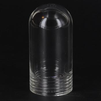 Clear Glass G-9 Lamp Socket Lenses Cover for use with Threaded Skirt G-9 Type Lamp Holders