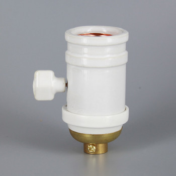 100 Year Anniversary White Porcelain Antique Reproduction Lamp Socket with 1/8ips. Cap