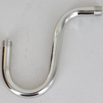 1/8ips Male Threaded 3-1/2in Long Deep Drop Pin-Up Bent Arm - Polished Nickel