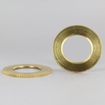 2-1/8 in. UNO-RING KNURLED EDGE POLISHED BRASS