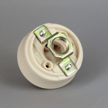 GU24 LED/CFL Lamp Socket With 1/8ips Female Hickey With Push In Quick Connections